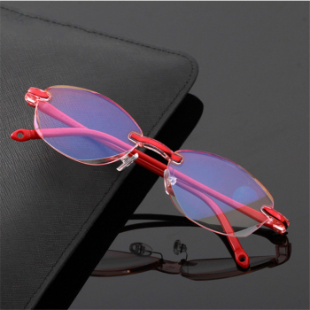 Anti Blue Light Reading Glasses Rimless Presbyopia Memory Hyperopia Frameless Magnifier Eyewear +1.0,+1.5,+2.0,+2.5,+3.0