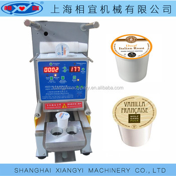 Lavazza blue 4 cups coffee capsule sealing machine china chinese factory.