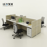 MDS wood melamine folding furniture office desk with metal table legs