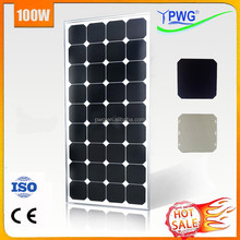 100 Watt PV Mono Sunpower Solar Power Kit High Efficiency for Solar Panel System