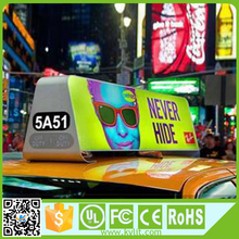 High brightness full color 3g taxi top led display