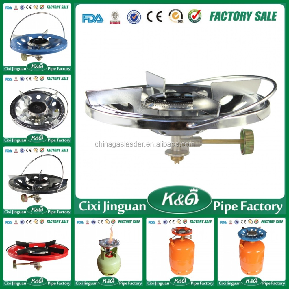 China Made Good Nigeria Kenya Commercial Portable Cast Iron Camping Gas Stove Parts Mini Single Burner LPG Gas Camping Gas Stove