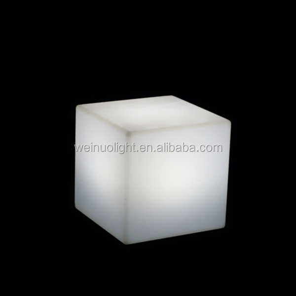 20cm LED cube table decoration lamp PE plastic led cube night <strong>light</strong>