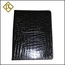 Office leather metal 2 O shape ring binder file folder