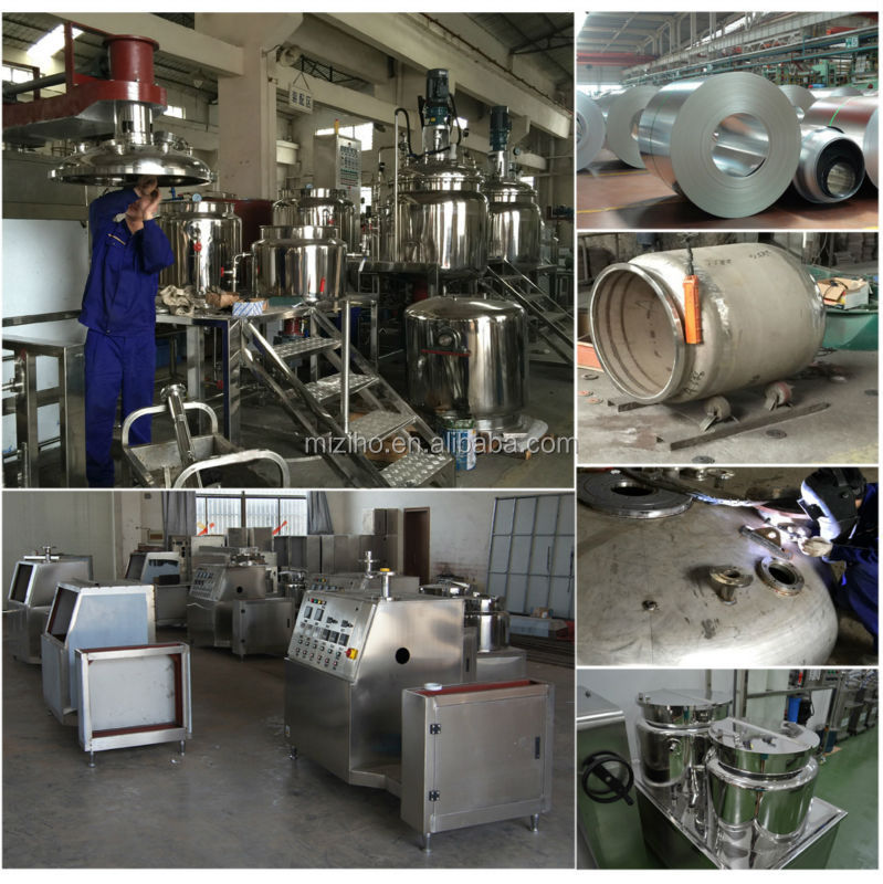 MZH-M 300L Cream/lotion/paste vacuum emulsifying mixer