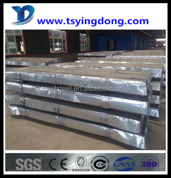 hot sale China wave coated 4*8 galvanized corrugated steel sheet Tangshan