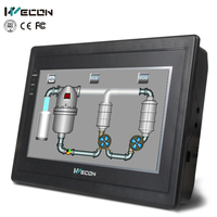 Wecon 7 inch CAN BUS interface hmi for plc,replace weintek hmi and lower price