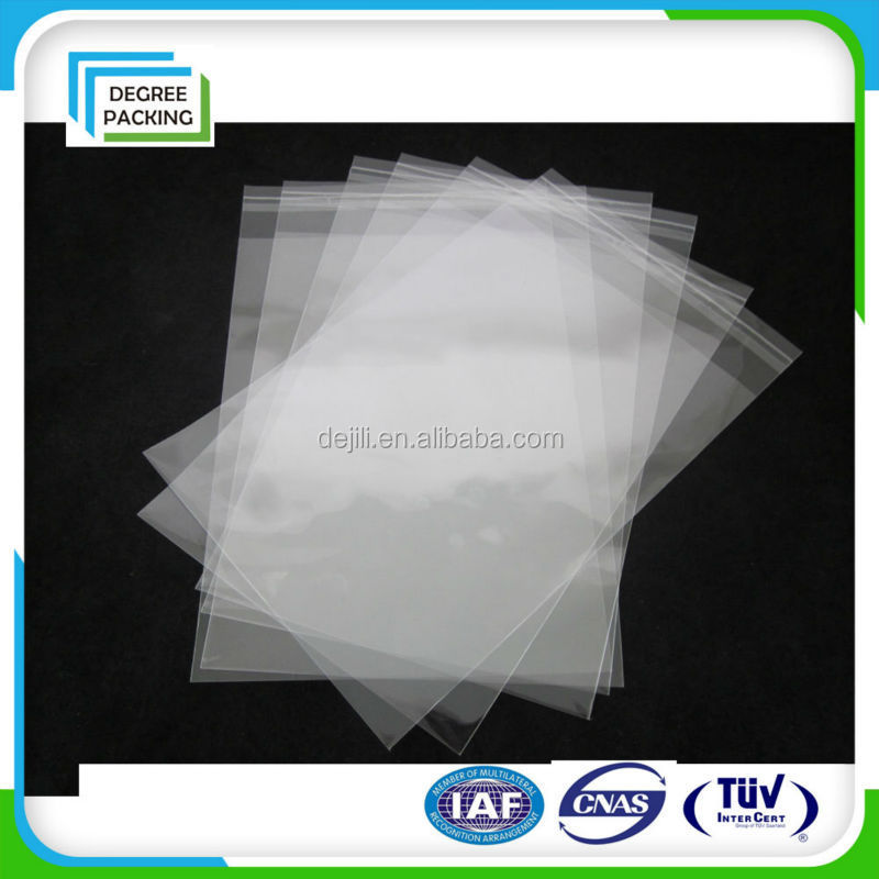 packaging use PP PE plastic bag with self adhesive tape
