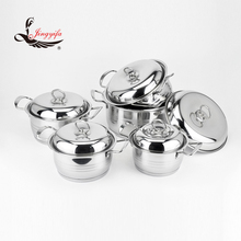 Wholesal stainless steel cookware set with capsulate bottom