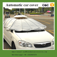 folding garage automatic heated car cover