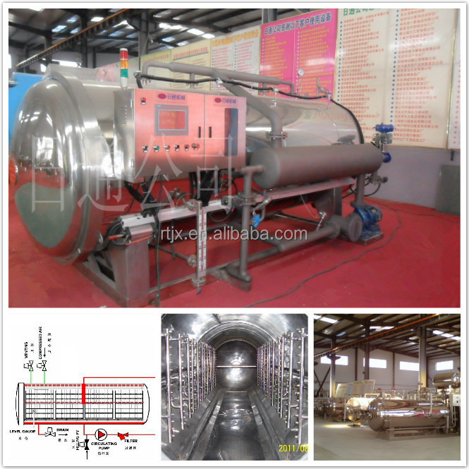 automatic steam water autoclave machine for canning fruit