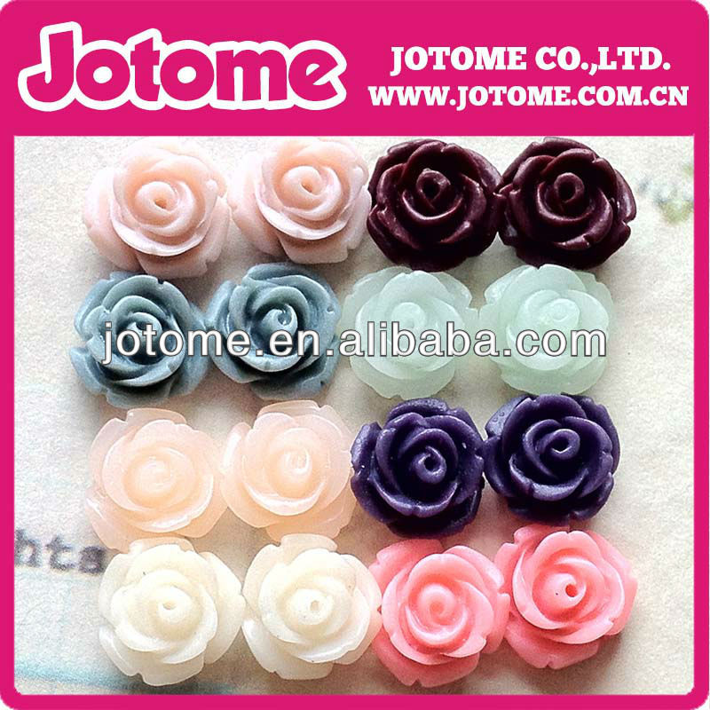 Smooth faceted cabochons loose fashion resin flower