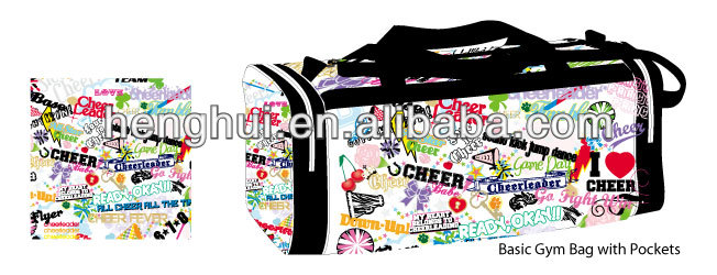 Cheap personalized printing Travel Bag cheer bags wholesale