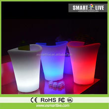 Cheers colorful Champagne LED ice bucket/led illuminated ice bucket for promotion and decoration