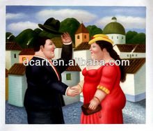 cartoon canvas painting