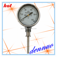 Process industry stainless steel series, straight stem thermometer,industrial thermometer