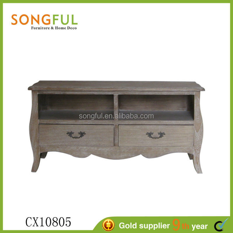 paulownia living room furniture lcd tv wooden cabinets