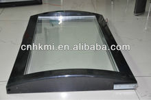 upright tempered curved glass door