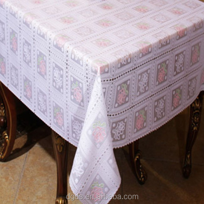 2015 Flower design table cloth 54'' PVC cover table