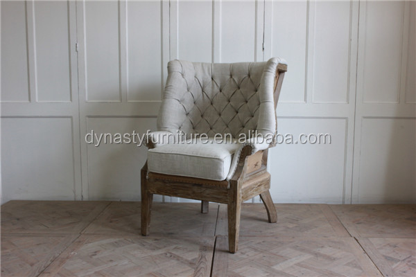 antique solid wood furniture living room single <strong>sofa</strong>