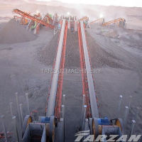 Low cost belt conveyor for stone mining with good performance