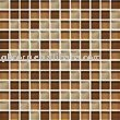Crystal Glass Mosaic Wall Tile Brown Colors 25x25x4mm M4CB522