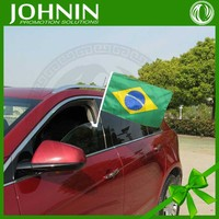 new prmotional cheap custom 2014 brazil world cup car flag