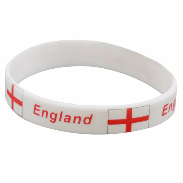 Thin Cool National Country Flag Designs Football World Cup Soccer Ball Silicone Wristband Bracelets