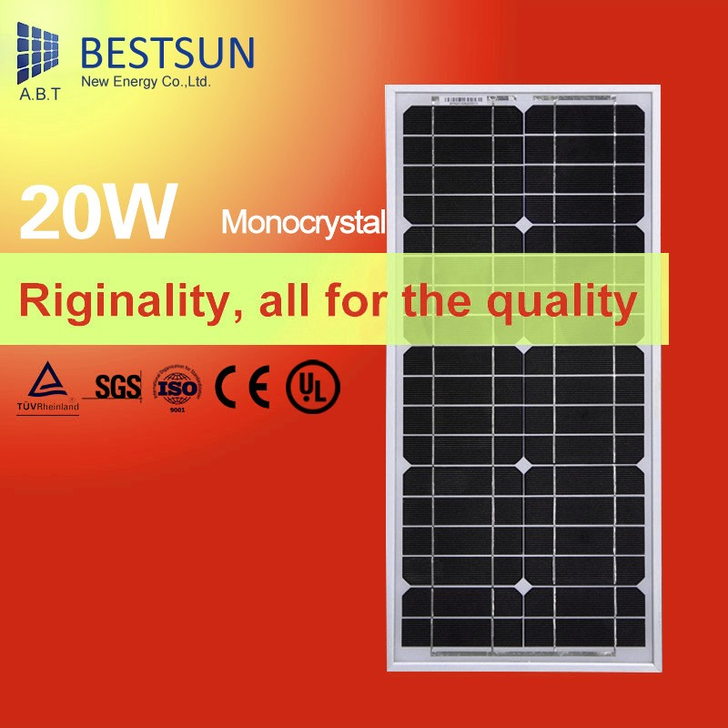 New Energy fabric monocrystalline polycrystalline silicon solar panel 20w