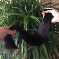 Hot sale free sample small MOQ 40pcs/pack factory direct sale 50cm #1b full ends beauty tape hair