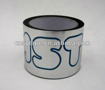 aluminum coated silvery decorative metal tape with printed logo