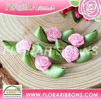 2017 Popular pink double face garment perfume satin ribbon bows