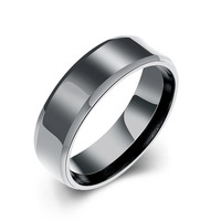 Jewelry factory outlet R18 lettering black titanium silver wholesale stainless steel rings