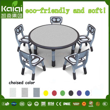 school plastic kids furniture height adjusted study table and chair for kids