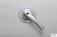A38-2 38T steel chainring and alloy crank 170mm single speed bicycle