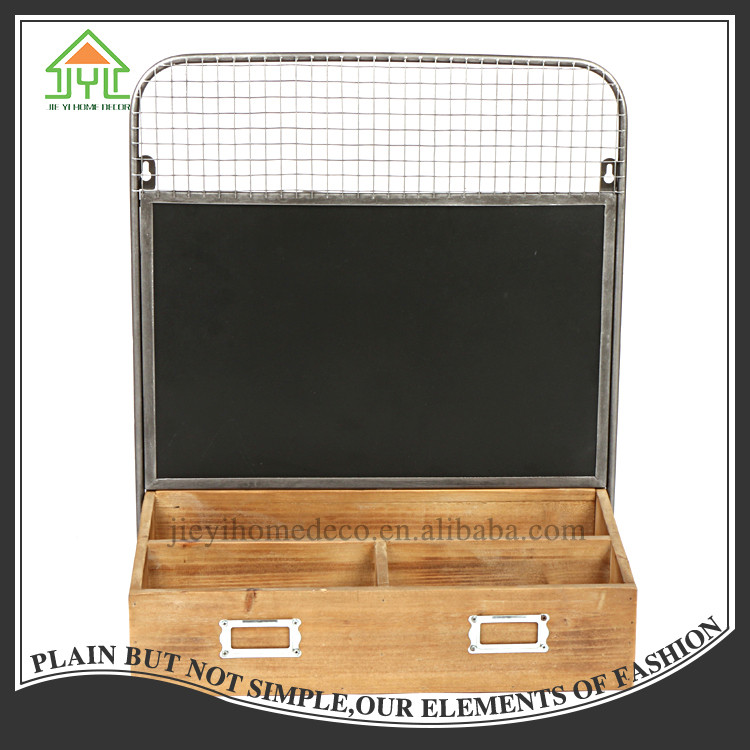 Chalkboard Wood Box , Kitchen Mini Black Chalk Board