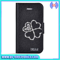 Waterproof ice crystal silk leather case for iPhone 5