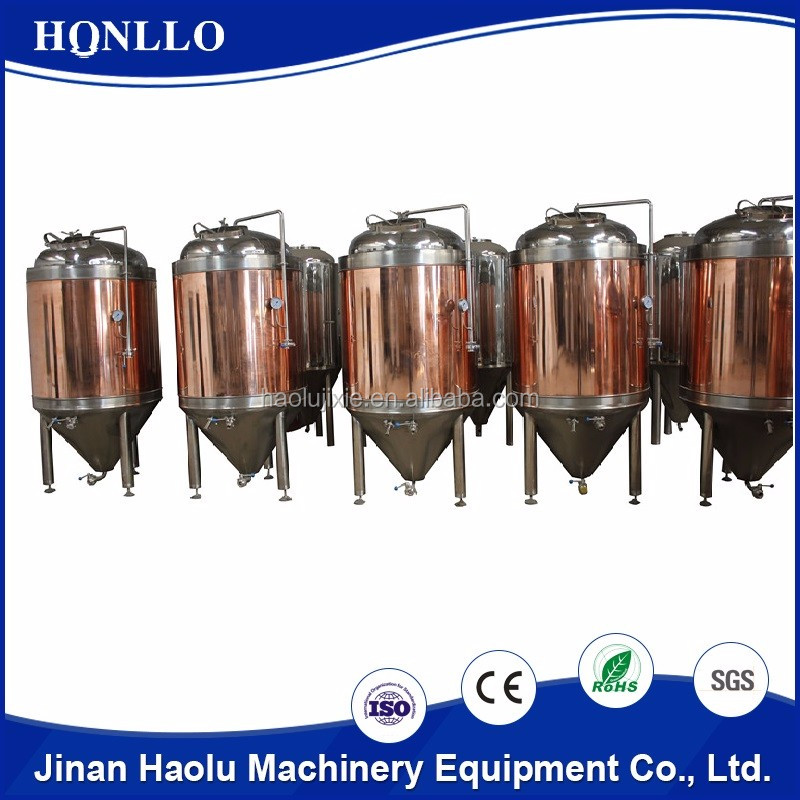 commercial luxury small copper beer distillation equipment for pub brewery system