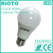 Aluminum+ plastic 12W A60 LED light Bulb for outdoor using