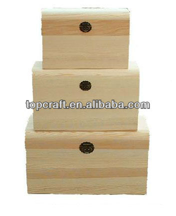 2013 solid natural raw material and recyclable box one set with three different sizes for packing