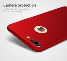 Big red color Wholesale smart mobile phone case for iphone 7 7plus 6 6s 5s SE cover