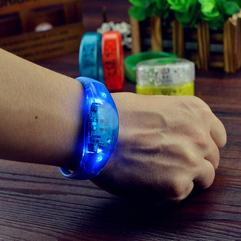 New Style Top Selling Led Sound/Voice Control Bracelet Sync With The Beats of Music