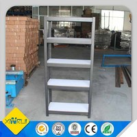 Light duty metal warehouse angle iron shelf