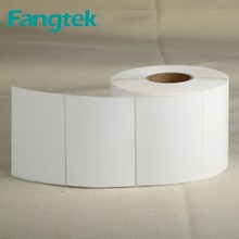 80*60mm *1000 Pieces /roll ,Eco -friendly Sticker ,Adhesive Sticker Roll Supplied by Fangtek Factory