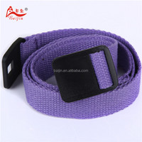 2.5cm webbing belt with plastic buckle