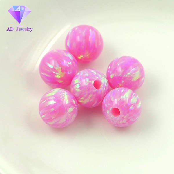 Hot sale synthetic half hole opal beads stone for earrings