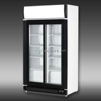 400-800 LITERS DOUBLE GLASS DOORS UPRIGHT DISPLAY COOLER