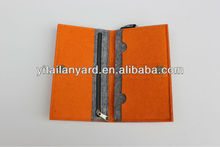 2013 hotsale felt book covers with laser logo