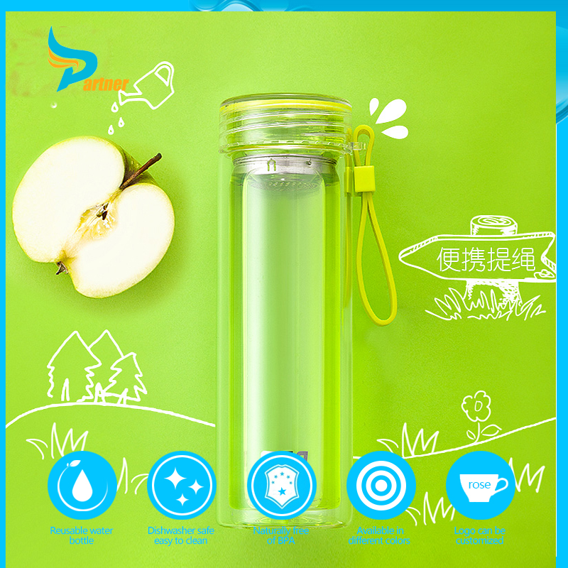 Cheap 2016 New Product private label glass eva bottle water