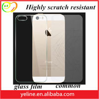 Anti-fingerprint tempered glass Back Cover Protector for iphone 5